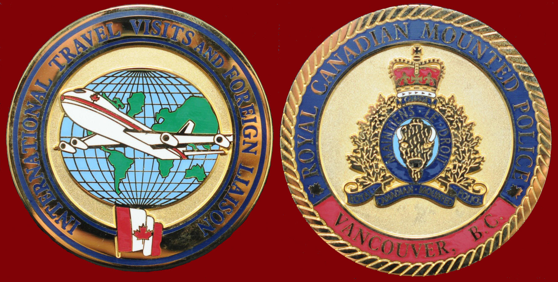 RCMP INTERNATIONAL TRAVEL VISITS AMD FOREIGN LIAISON