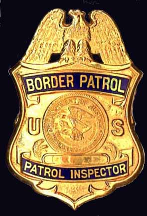 U.S. Border Pareol Inspector badge