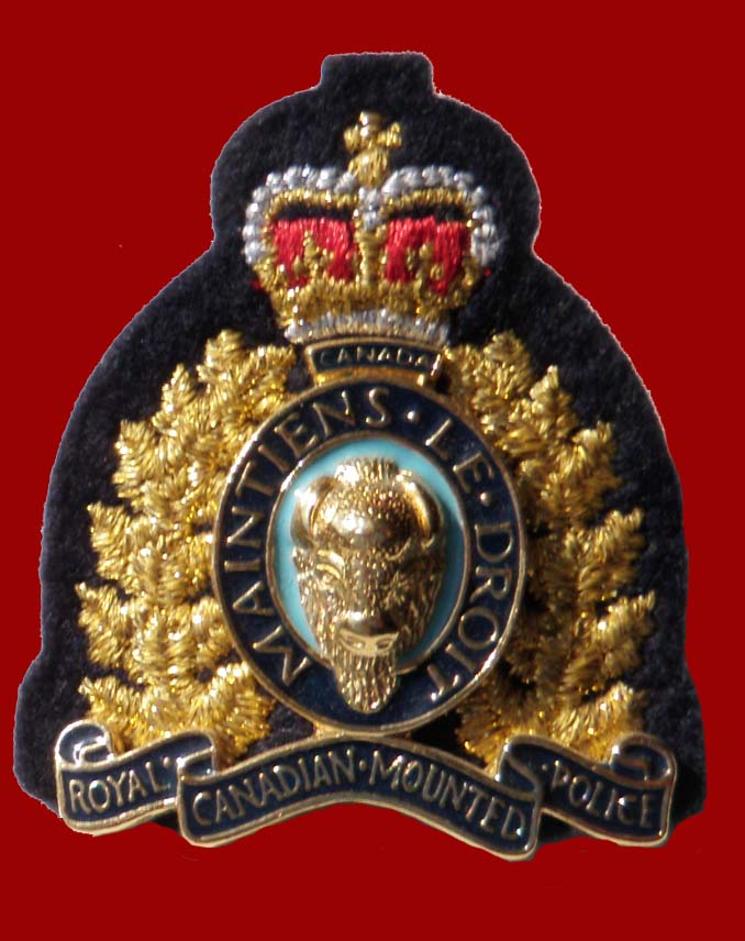 RCMP Officer's Hat Badge